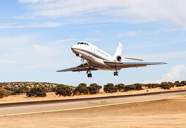pista aterrizaje en alojamiento exclusivo en España